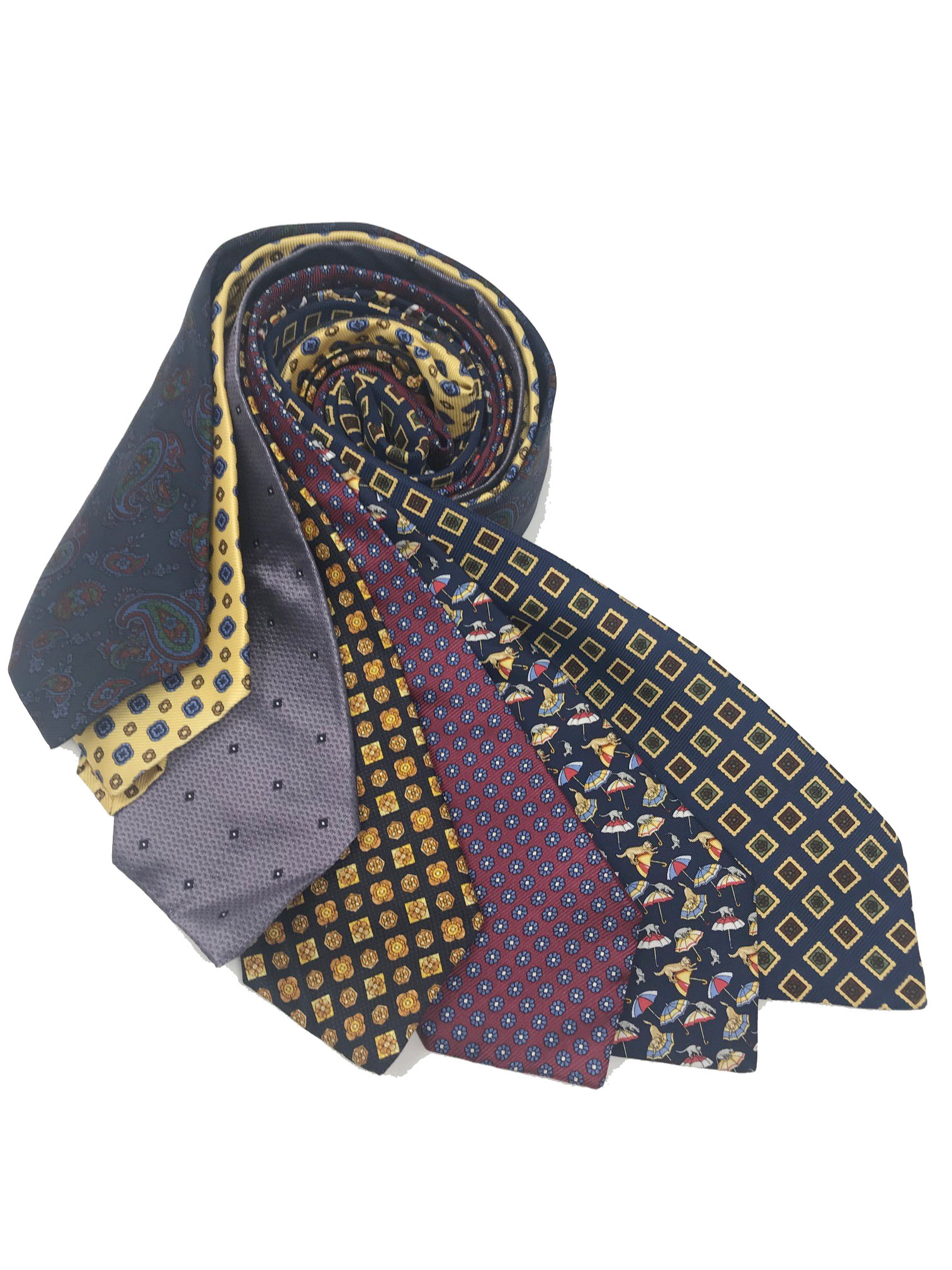Cavenagh of London 7Piece 100% Pure Silk Ties Made in UK (702D)RRP£139.99
