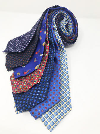 Cavenagh of London 7Piece 100% Pure Silk Ties Made in UK (333D)RRP£139.99 Thumbnail 1