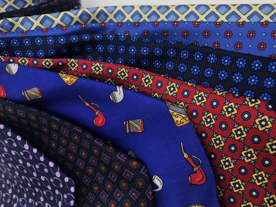 Cavenagh of London 7Piece 100% Pure Silk Ties Made in UK (333D)RRP£139.99 Thumbnail 2