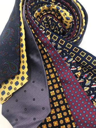 Cavenagh of London 7Piece 100% Pure Silk Ties Made in UK (702D)RRP£139.99 Thumbnail 2