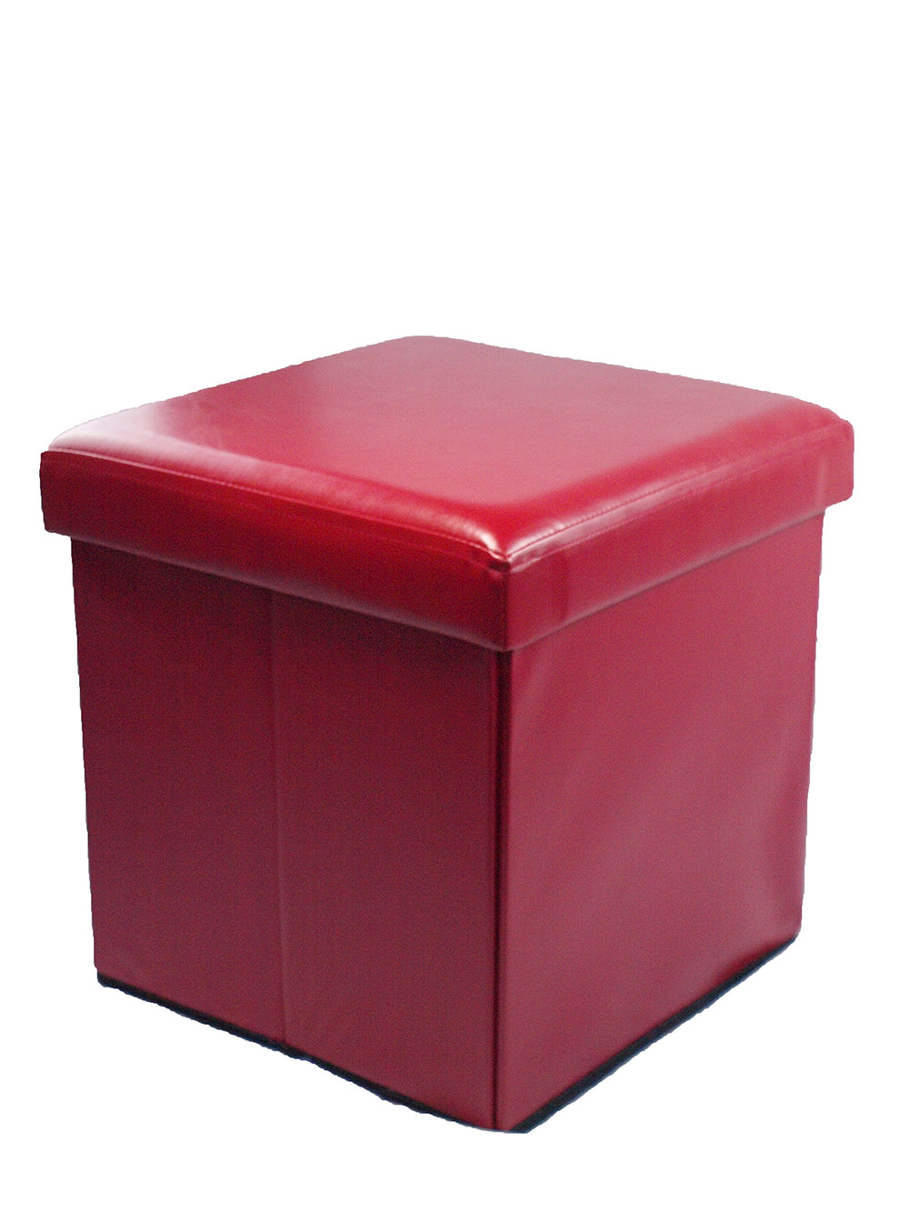Multi Purpose Faux Leather Folding Ottoman Storage Box