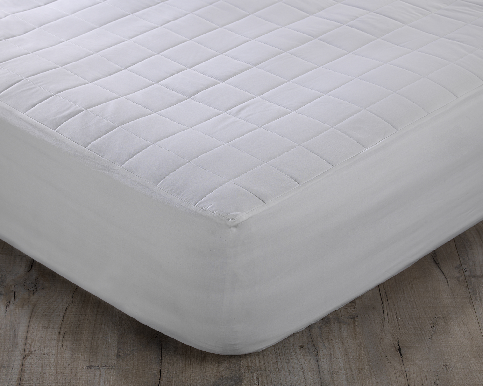 Natural Pure Cotton Luxury Quilted Mattress Protector