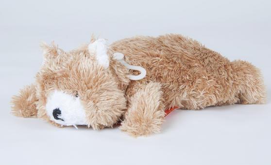 Children Plush Microwaveable comforter/Toy with Lavender Animal Bear Design