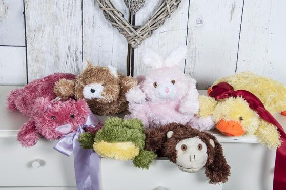 Children Plush Microwaveable comforter/Toy with Lavender Animal Bear Design Thumbnail 2