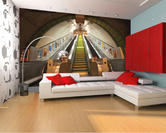 Easy Hang Giant Wallpaper Mural Subway A002 Design