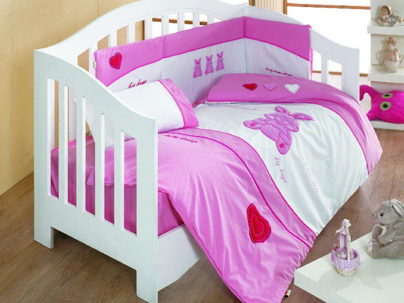 My Little Rabbit Collection 100% Cotton Cot Bed Bumper