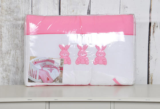 My Little Rabbit Collection 100% Cotton Cot Bed Bumper Thumbnail 2