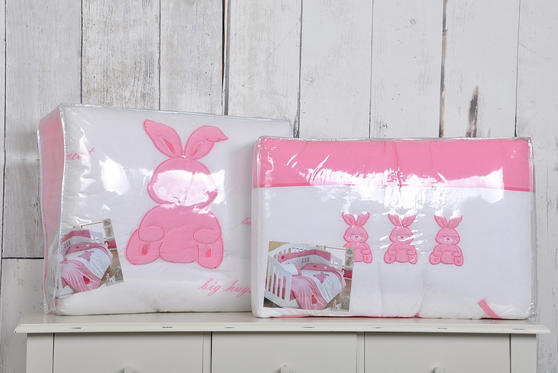 My Little Rabbit Collection 100% Cotton Cot Bed Bumper Thumbnail 3