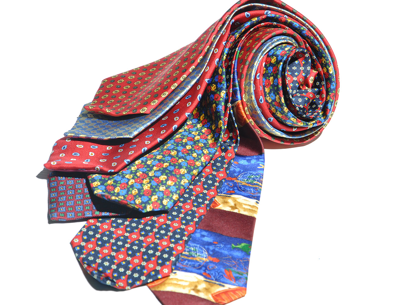 Cavenagh of London 7Piece 100% Pure Silk Ties Made in UK (527D)RRP£139.99