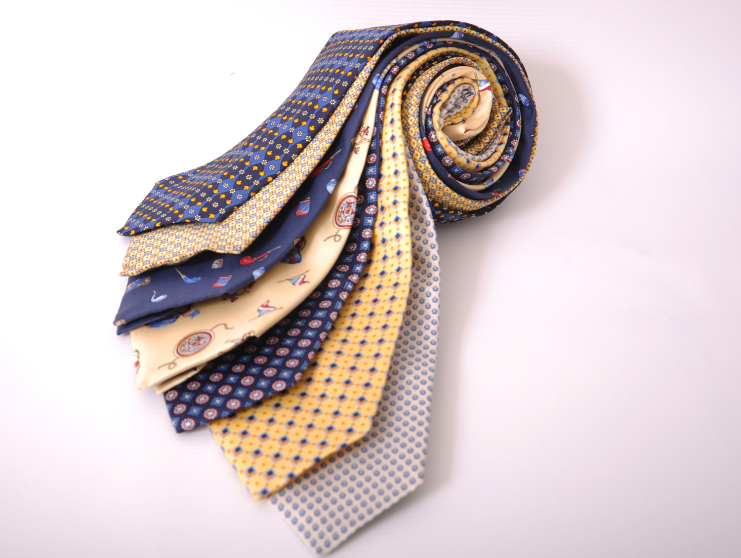 Cavenagh of London 7Piece 100% Pure Silk Ties Made in UK (507D)RRP£139.99