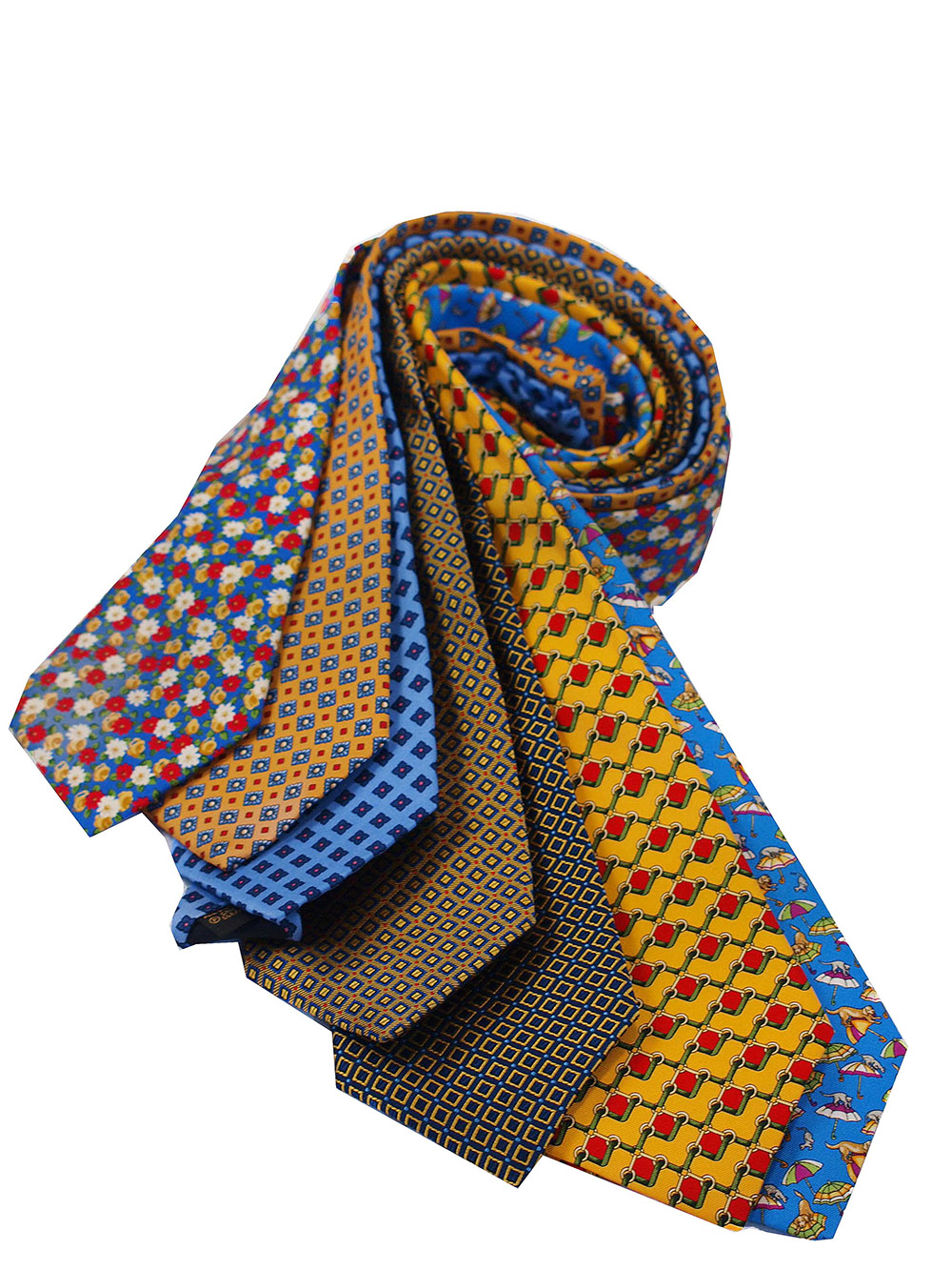 Cavenagh of London 7Piece 100% Pure Silk Ties Made in UK (253D)RRP£139.99