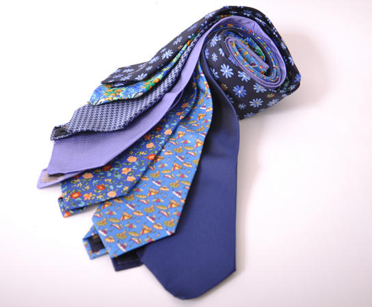 Cavenagh of London 7Piece 100% Pure Silk Ties Made in UK (504D)RRP£139.99 Thumbnail 1
