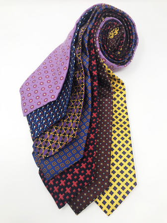 Cavenagh of London 7Piece 100% Pure Silk Ties Made in England (620D)RRP£139.99