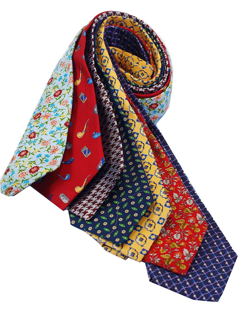 Cavenagh of London 7Piece 100% Pure Silk Ties Made in UK (233D)RRP£139.99