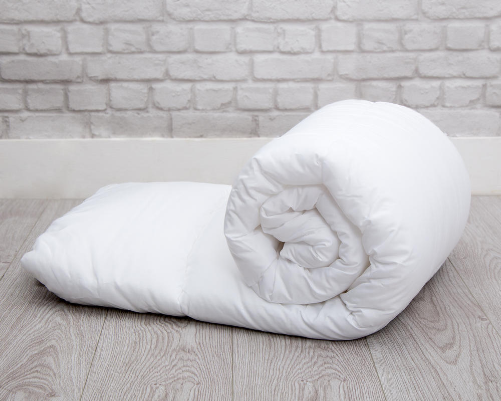 Pure White Peached Microfibre Duvet - Slight Second