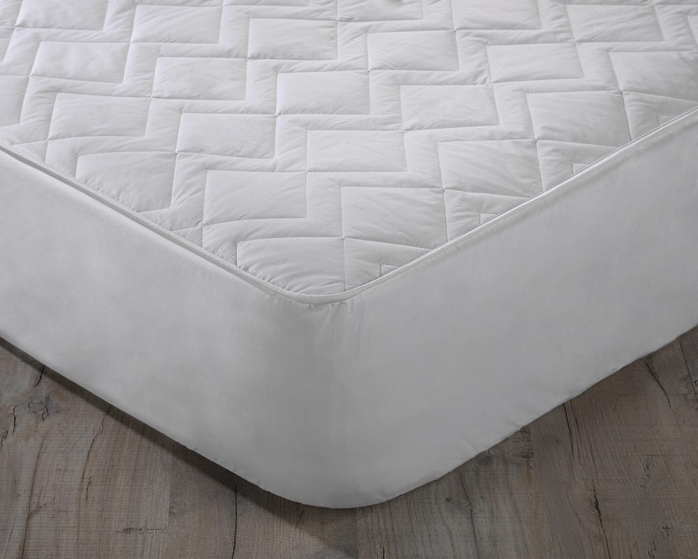 "Keep Cool Cotton Mattress Protector with 15"" Deep Skirt"