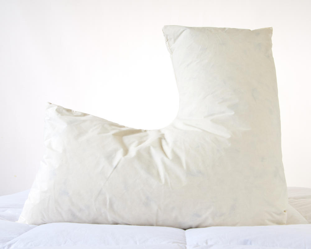 V shaped Duck Feather Support Pillow