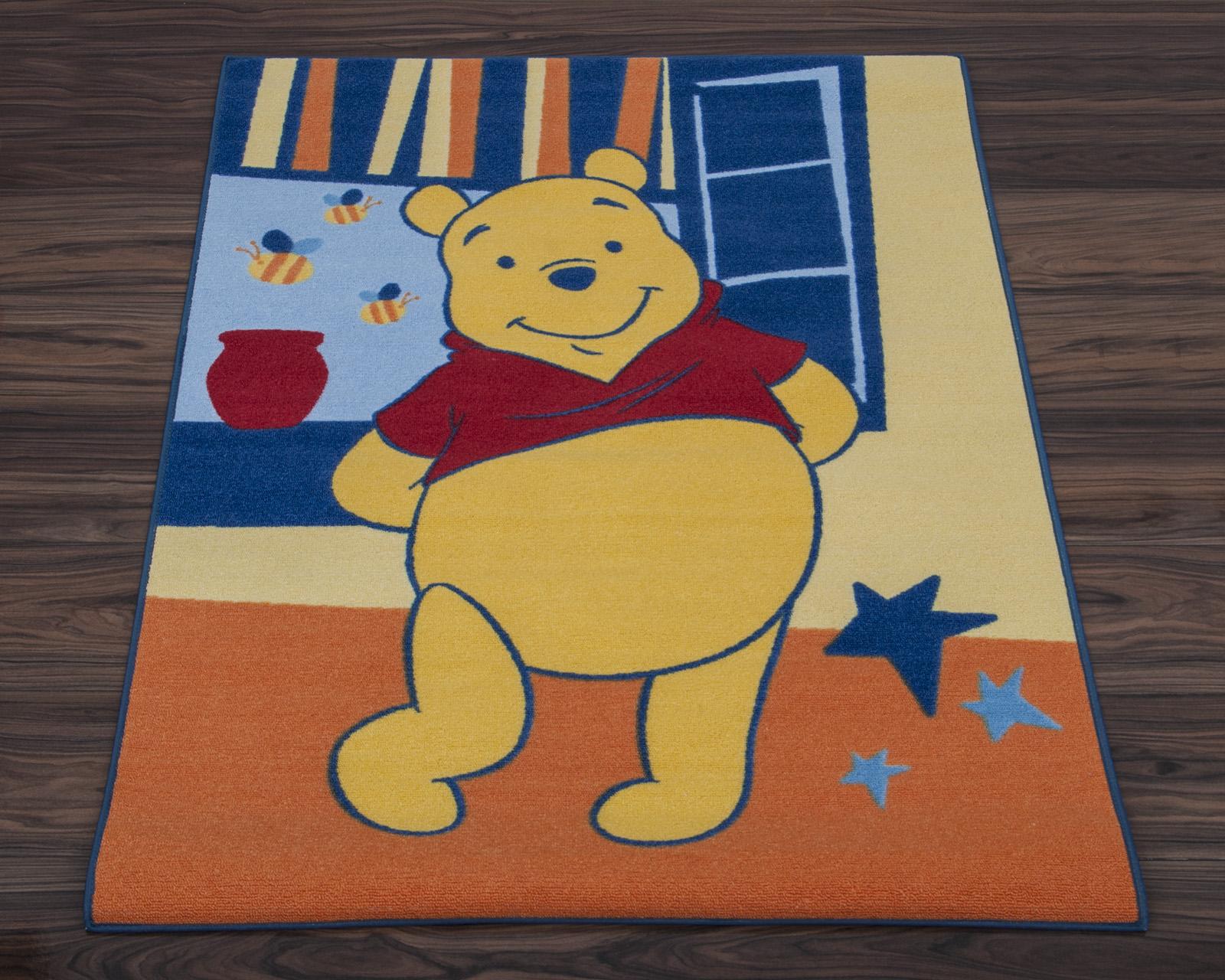 Official Disney Rug Winnie The Pooh Spring Orange