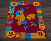Official Disney Rug - Winnie the Pooh ABC Red