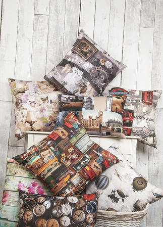 Vintage Style Square Cushions (9 Designs Available)  Thumbnail 2