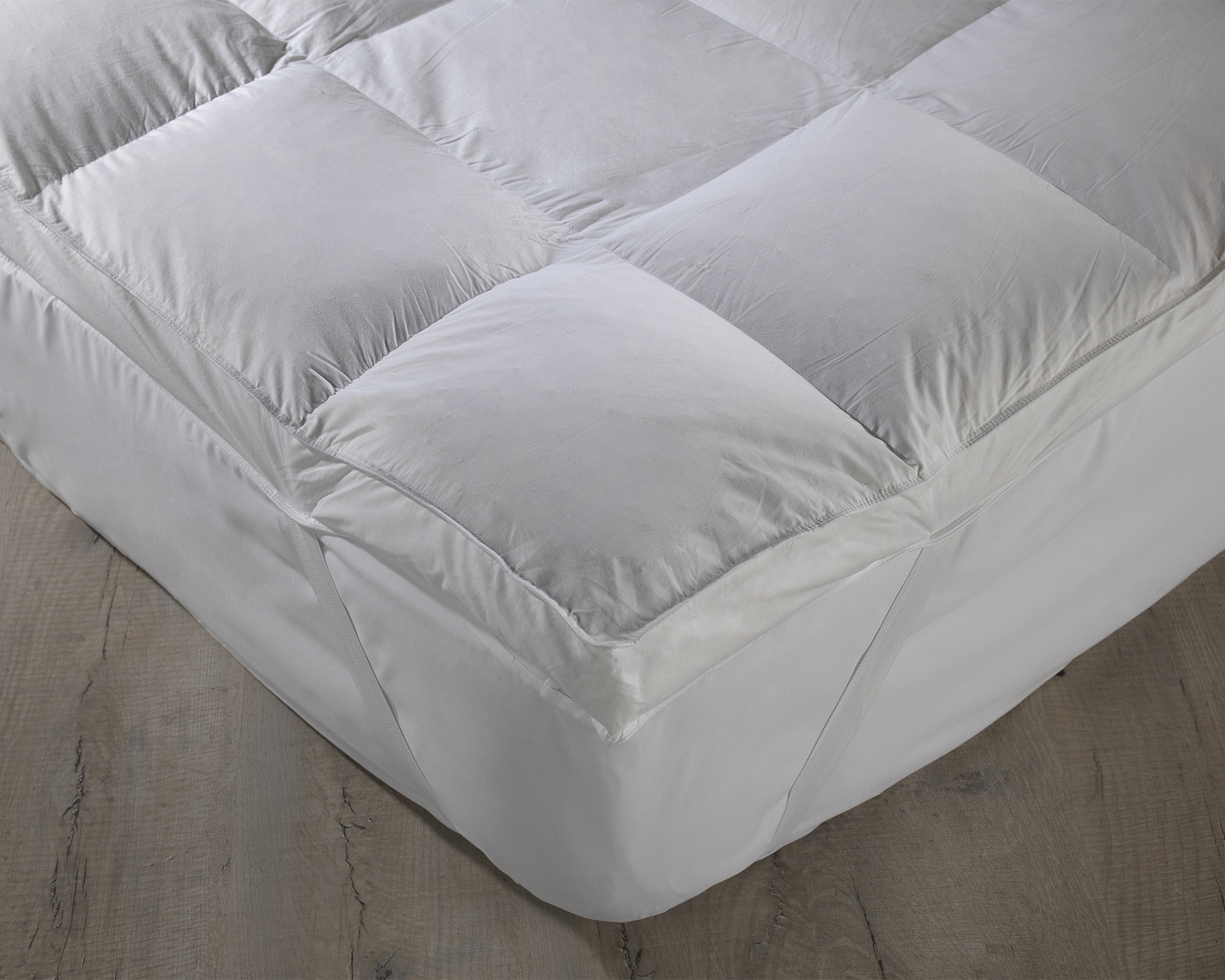 Natural Cotton Thick Duck Feather Filled Mattress Topper