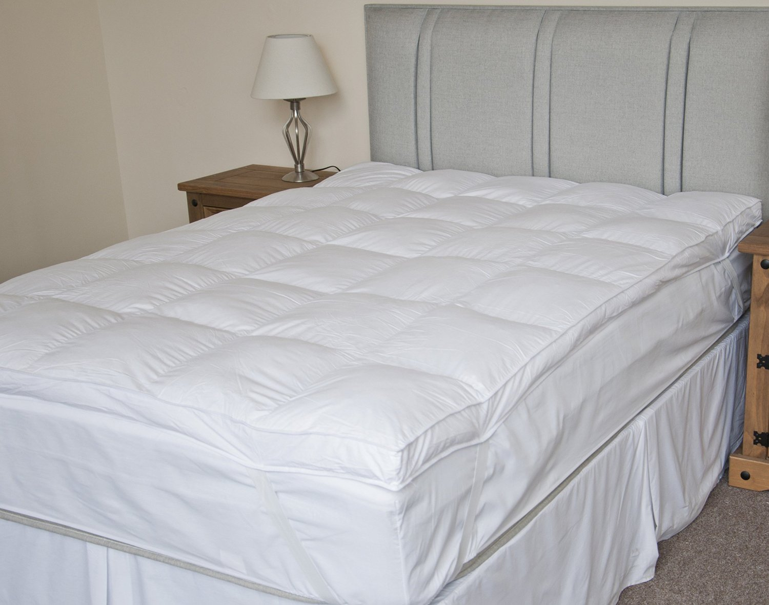 thick mattress pad. Luxury Extra Thick Duck Feather Mattress Topper Pad