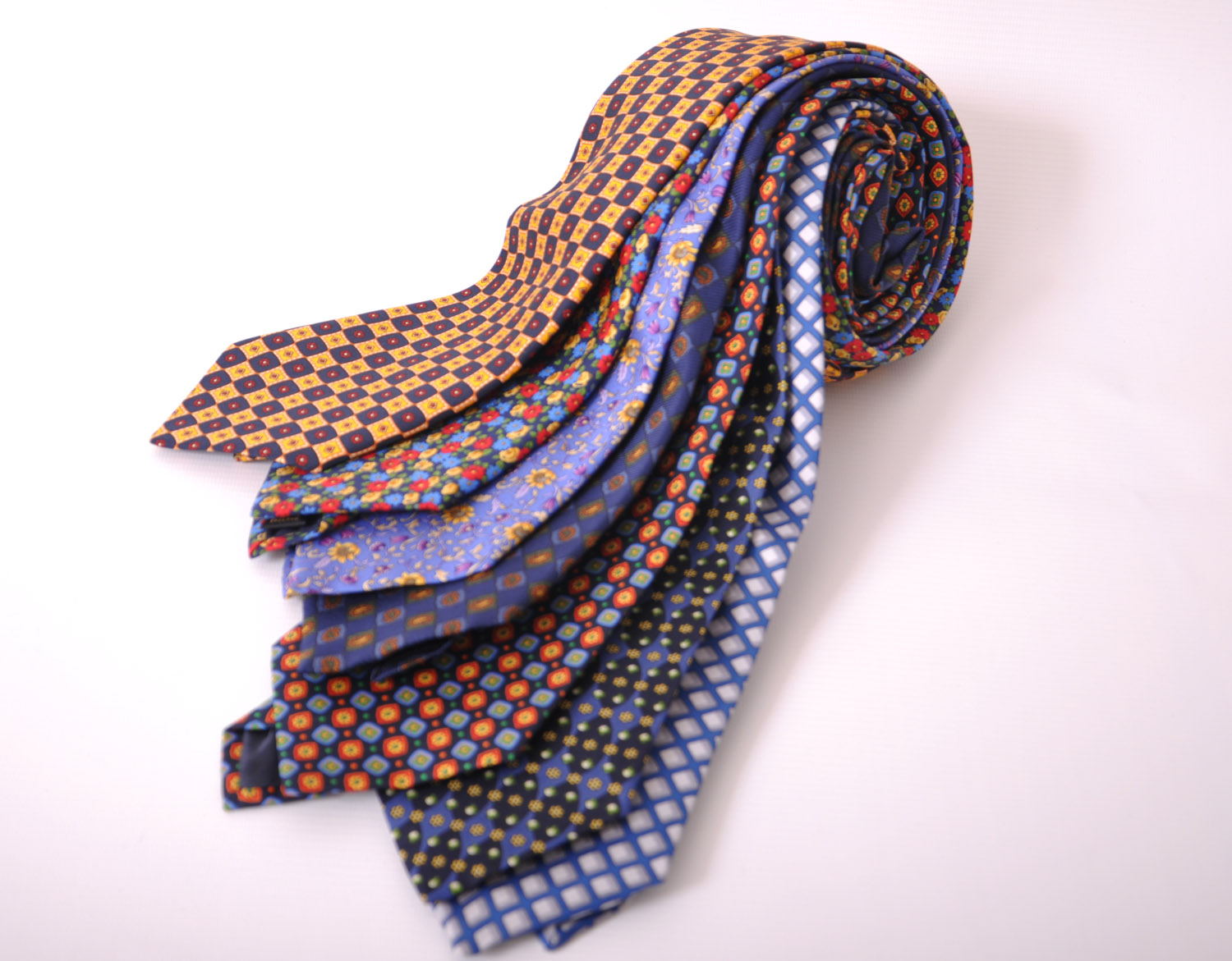 Cavenagh of London 7Piece 100% Pure Silk Ties Made in UK (425D)RRP£139.99