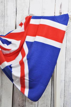 British Union Jack Flag Design Fleece Sofa Bed Picnic Throw Blanket - 3 Colours Thumbnail 3