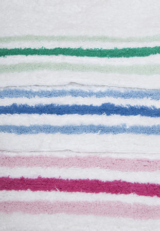 100% Cotton Anti Slip 2 Piece Bath Mat and Pedestal Set with Stripes Thumbnail 3