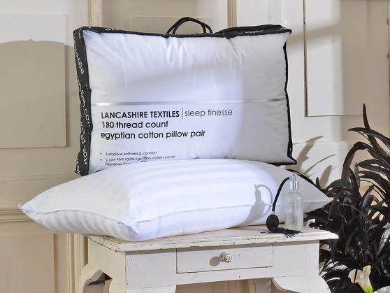 Luxury 100% Egyptian Cotton 180 Thread Count Pillows Thumbnail 3