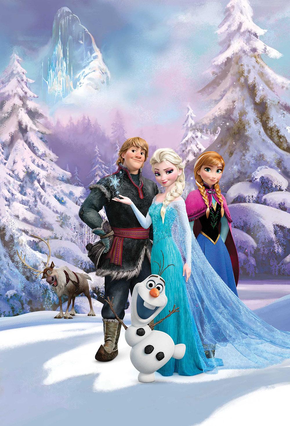 Official Children Kids Disney Frozen Deco Wall Mural