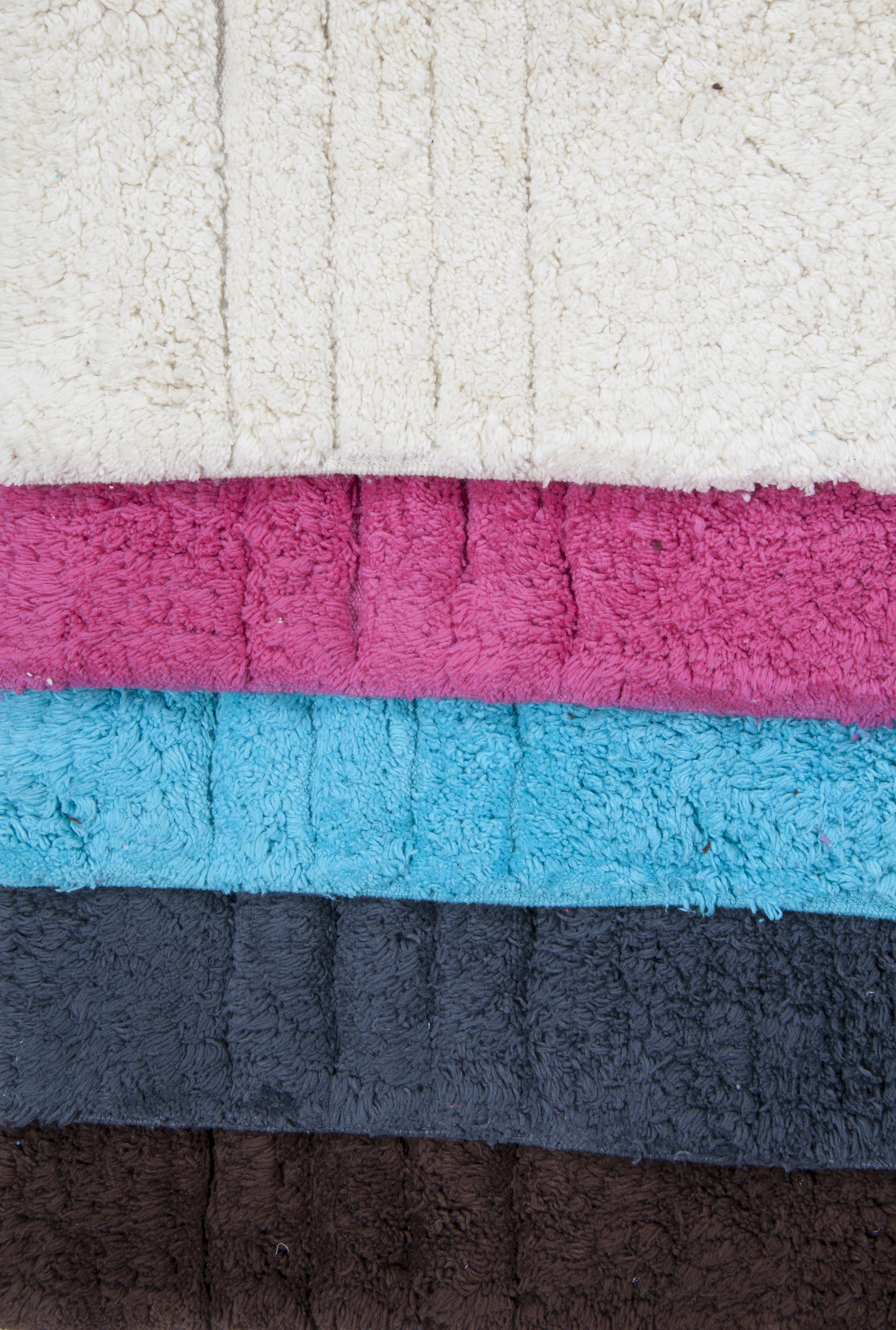 100% Cotton Pile Bath Mat and Pedestal Set in Various Colours