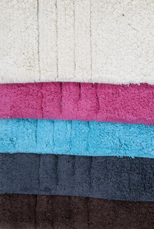 100% Cotton Pile Bath Mat and Pedestal Set in Various Colours Thumbnail 1