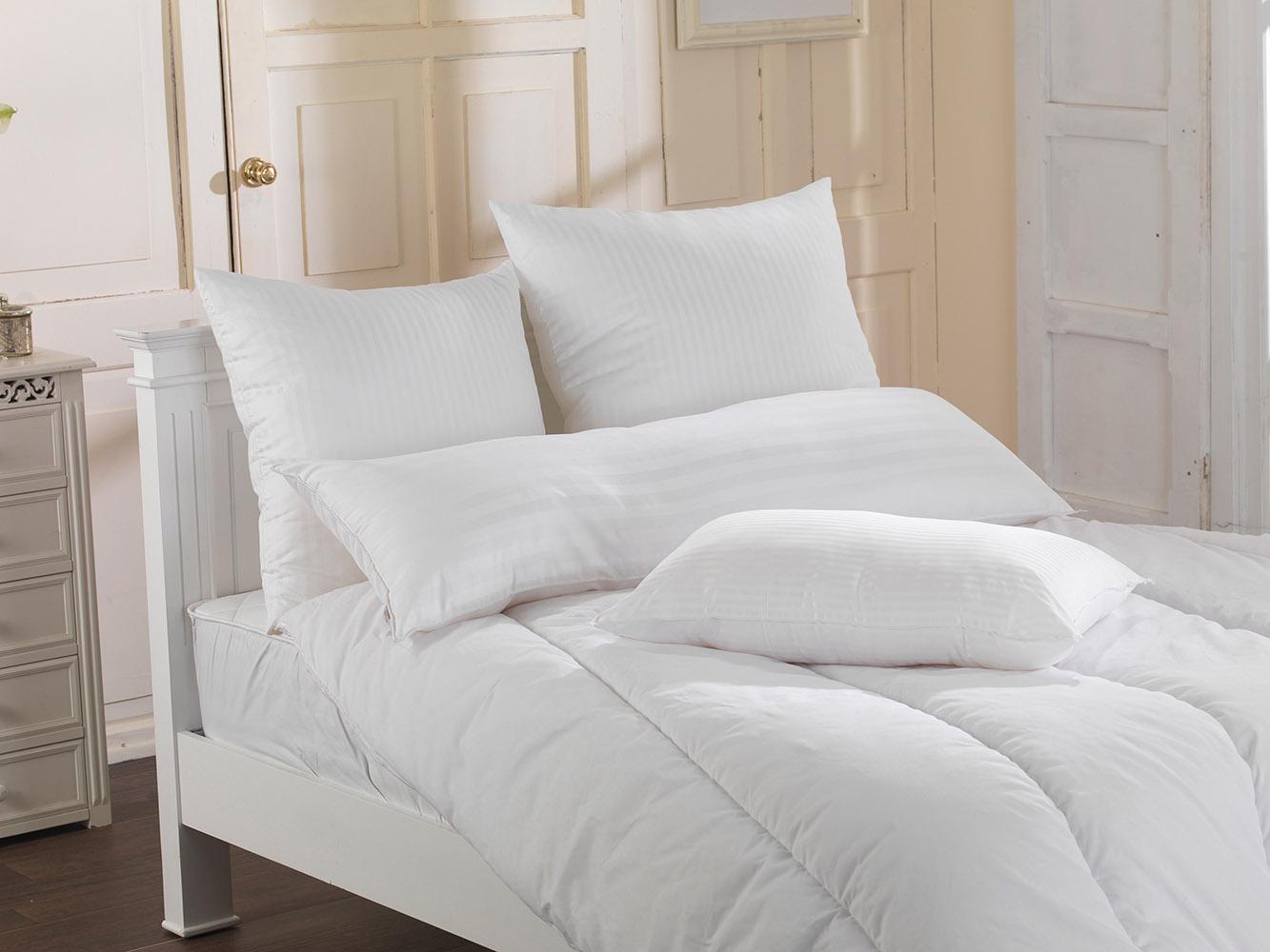 Luxury Euro Continental Square Egyptian Cotton Cover Satin Stripe Pillows; 65 x 65 cm, 80 x 80 cm
