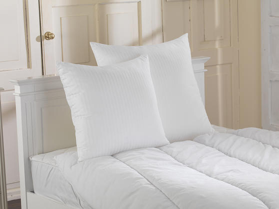 Luxury Euro Continental Square Egyptian Cotton Cover Satin Stripe Pillows; 65 x 65 cm, 80 x 80 cm Thumbnail 2