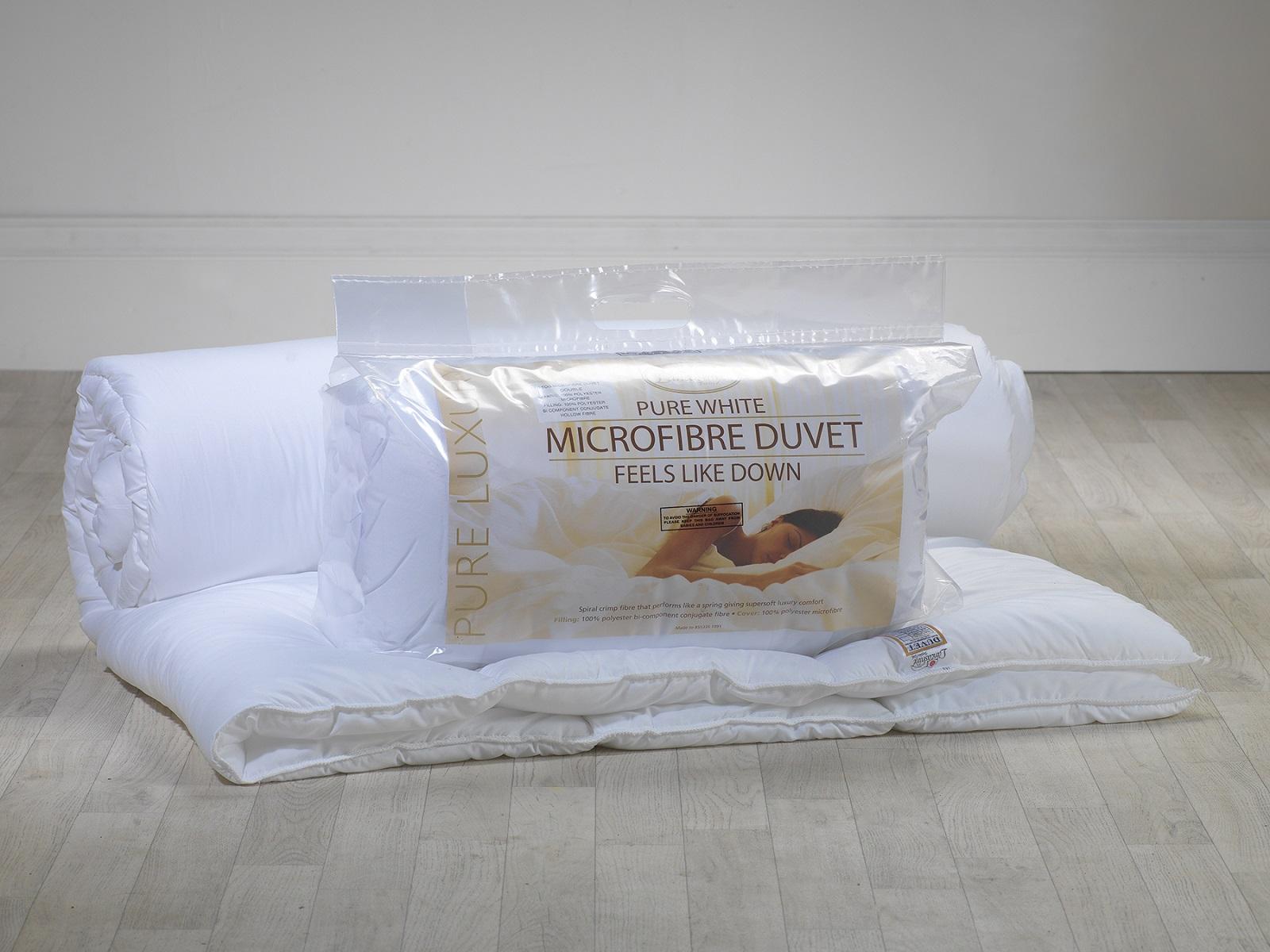 Soft As VERSO VERSO VERSO IL BASSO IN MICROFIBRA 10.5 Tog TUTTO L'ANNO INTORNO A Trapunta Piumini D'oca-Made in UK 381086