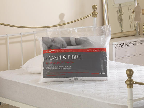 Hotel Quality Foam & Fibre Medium Support Pillow Thumbnail 1
