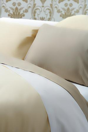 Exclusive 400 TC Finest Egyptian Cotton Oxford Pillowcase in Solid Cream Thumbnail 2
