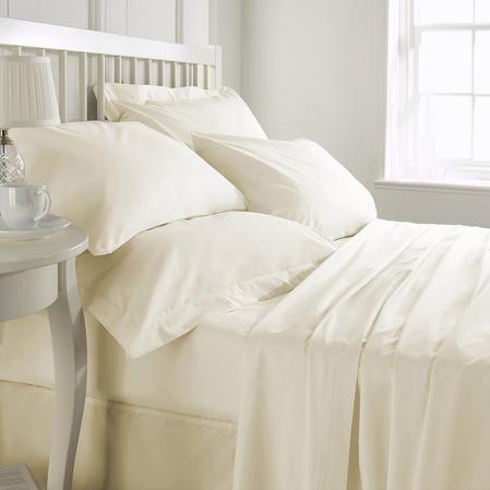 Exclusive 200 TC Finest Egyptian Cotton Oxford Pillowcase in Ivory Thumbnail 3