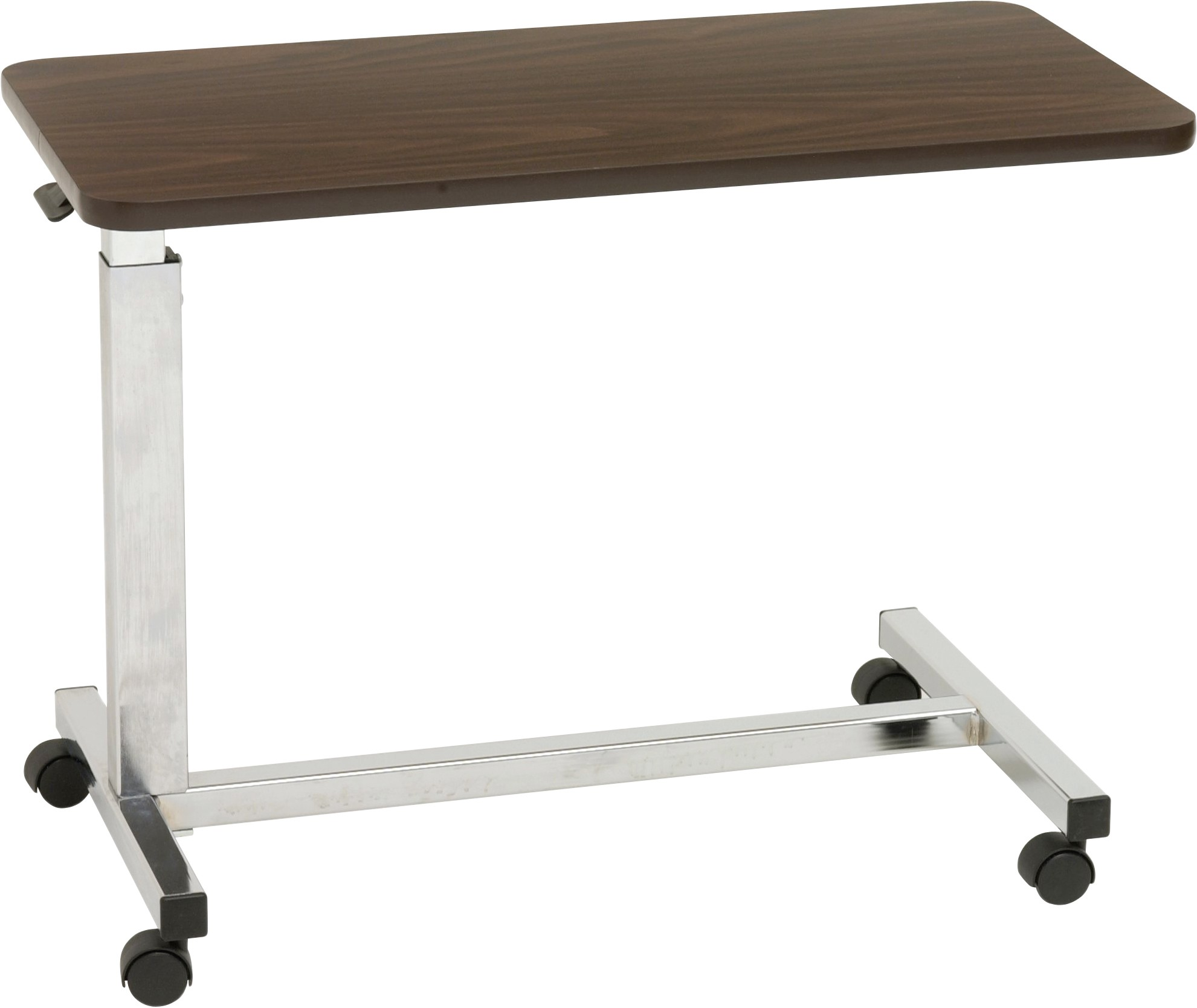 Easy Rise Portable And Adjustable Mobile Table Wheeled Over Bed Or