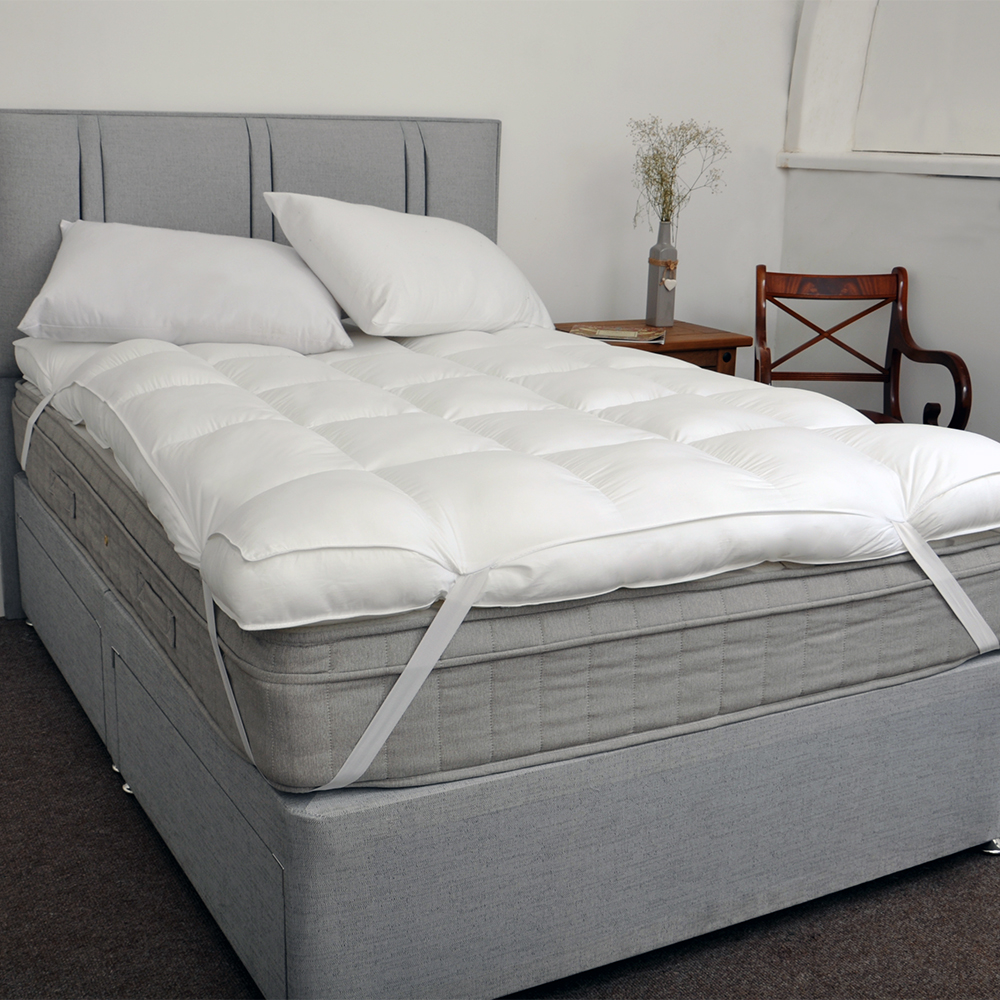 Sentinel Extra Thick Luxurious 100% 200TC Cotton 10cm 4 Inch Mattress Topper  Soft Enhance - Extra Thick Luxurious 100% 200TC Cotton 10cm 4 Inch Mattress