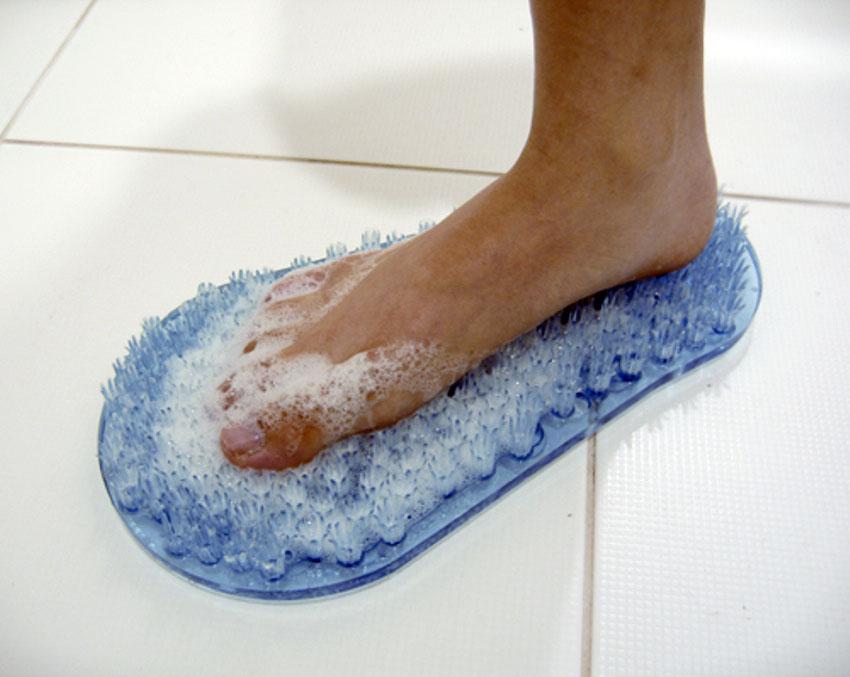 Sentinel Easy Spa Foot Cleaner Bath Shower Scrubber Massage Exfoliate Clean  Wash Feet
