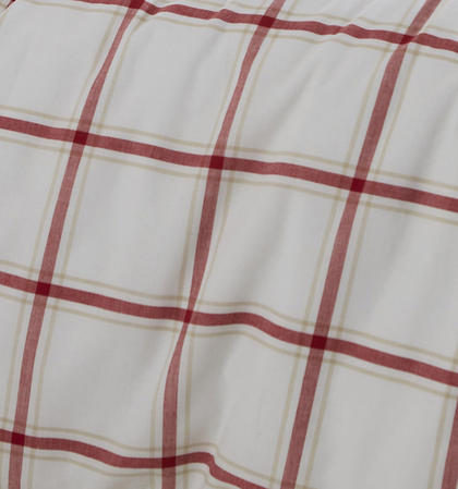 Red Check 100% Cotton Yarn Bridgeport Duvet Set in Super-King Thumbnail 3