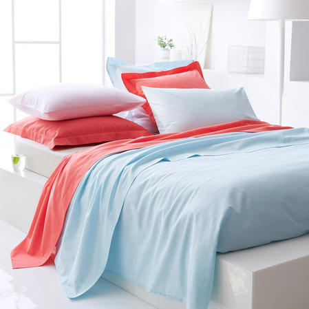 180 TC - Hotel Quality Solid Plain Dye Polycotton Percale Bedding