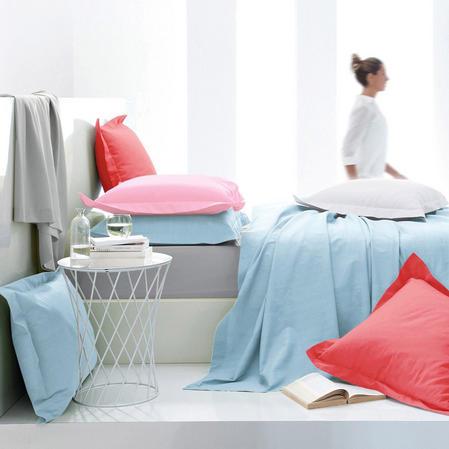 180 TC - Hotel Quality Solid Plain Dye Polycotton Percale Bedding Thumbnail 2
