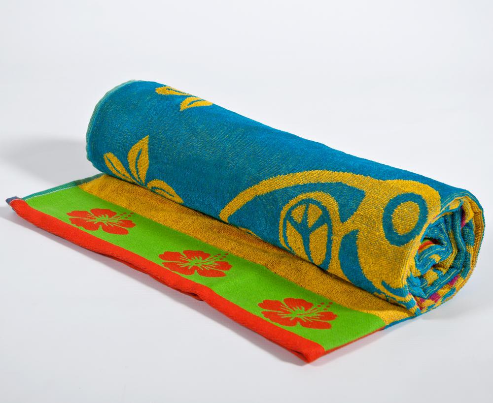 Large Egyptian Cotton Beach Towel Surf Design Bathroom Bedding Direct Uk