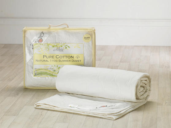 1 Tog - Luxurious Natural 100% Pure Cotton Anti Allergy Duvet  Thumbnail 4