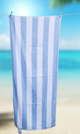 100% Cotton Chlorine Resistant Stripe Beach Towel Thumbnail 2