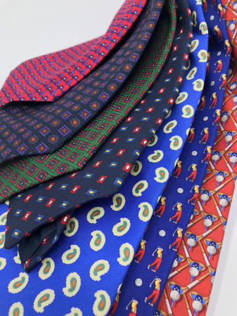 Cavenagh of London 7Piece 100% Pure Silk Ties Made in UK (516D)RRP£139.99 Thumbnail 2