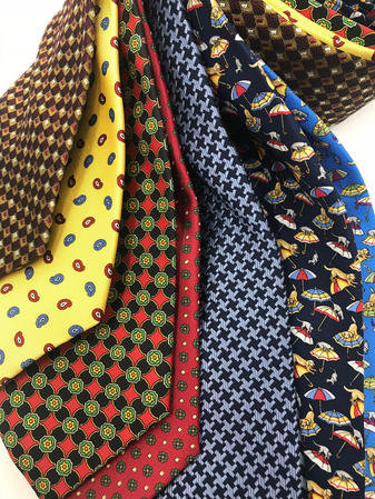 Cavenagh of London 7Piece 100% Pure Silk Ties Made in UK (723D)RRP£139.99 Thumbnail 2